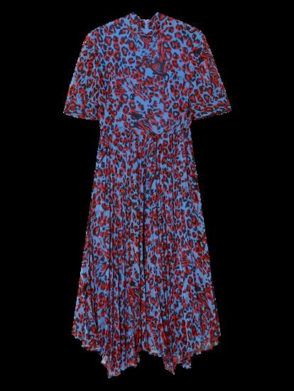 Image sur Robe plissée et imprimé léopard
