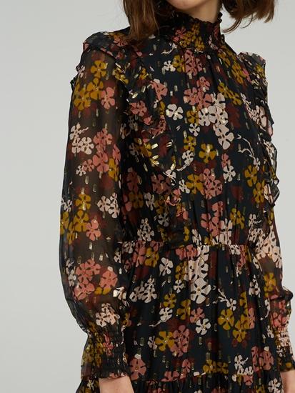 Image sur Robe imprimé floral  et volants
