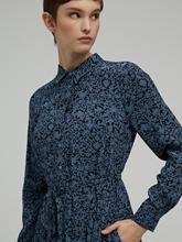Image sur Robe avec imprimé floral avec bandeau à la taille