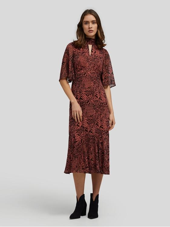 Image sur Desert Zebra Print Midi Dress