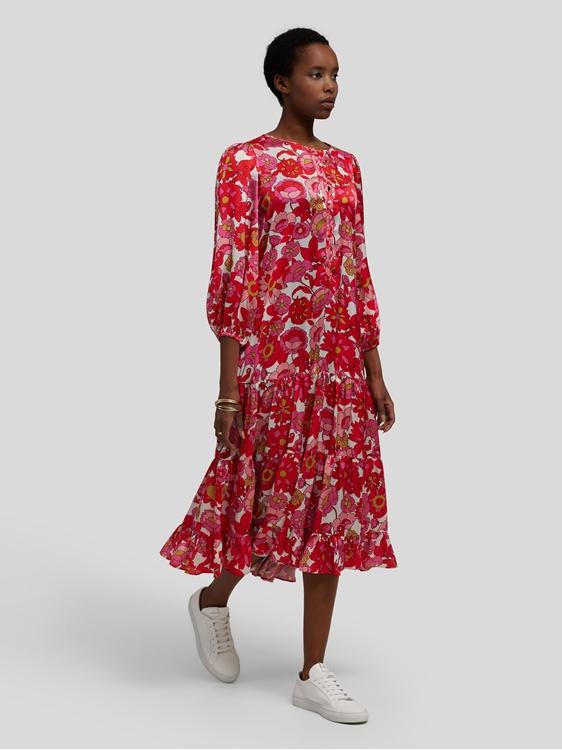 Image sur Robe en satin avec imprimé floral