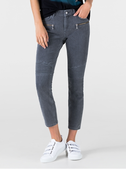 Bild von Skinny Jeans im Biker-Look