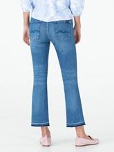 Bild von Bootcut-Jeans mit offenem Saum