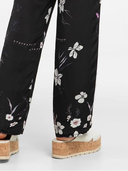 Image sur Hose aus Satin mit Blumen-Print MILLA