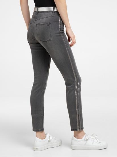 Image sur Jean skinny à rayures latérales