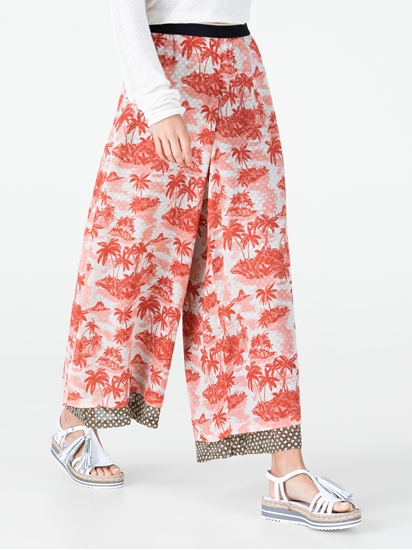 Image sur Jupe-culotte imprimé palmiers