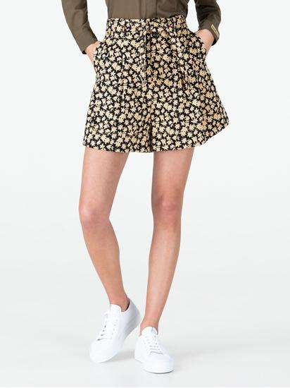 Image sur Jupe-culotte imprimé fleurs et ceinture à nouer
