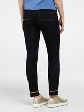 Bild von Skinny Jeans mit offenem Saum und Pailletten
