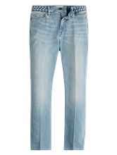 Image sur Jean avec ceinture tressée