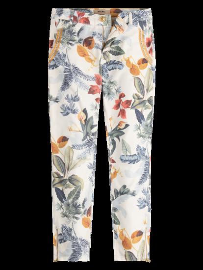 Image sur Pantalon avec imprimé et broderies