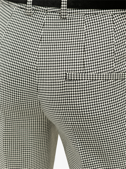 Image sur Pantalon business avec motif pied de coq