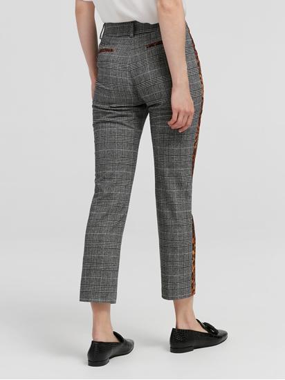 Image sur Pantalon à carreaux et rayures latérales