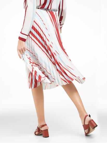 Image sur Jupe plissée à rayures