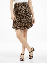 Image sur Jupe avec imprimé léopard et volants