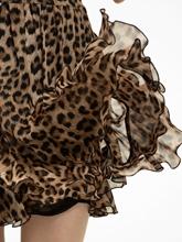 Bild von Jupe mit Leo-Print und Volants