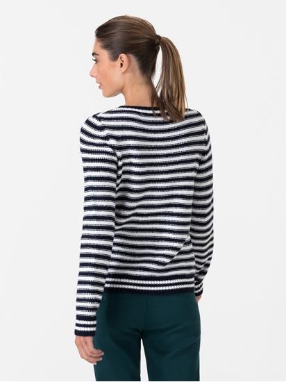 Bild von Pullover mit Streifen und Applikationen