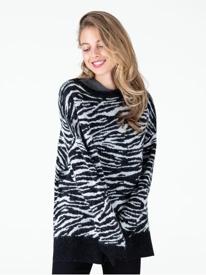 Bild von Oversized Pullover mit Zebramuster