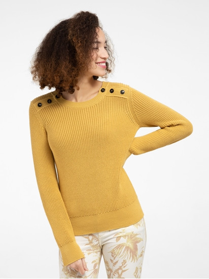 Image sur Pullover maille avec boutons