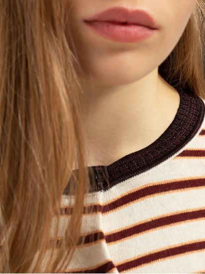 Bild von Strickjacke mit Streifen und Lurex
