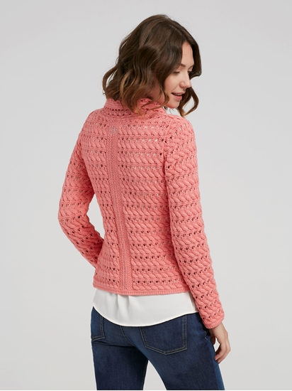 Bild von Strickjacke in Wickel-Optik
