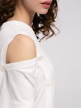 Image sur Pullover maille oversized boutonnière latérale