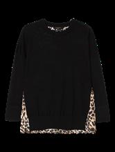 Image sur Pullover bi-matières et imprimé léopard