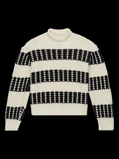 Image sur Pullover grosses mailles à rayures MONA