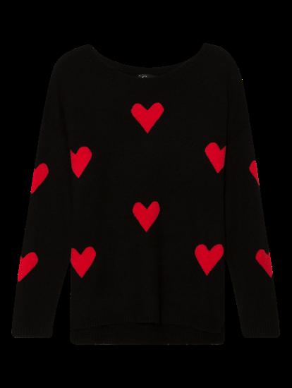 Bild von Oversized Pullover mit Herzen