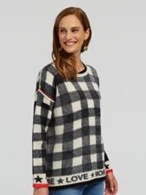 Image sur Pullover oversized à carreaux