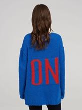 Image sur Pullover oversized avec écriture