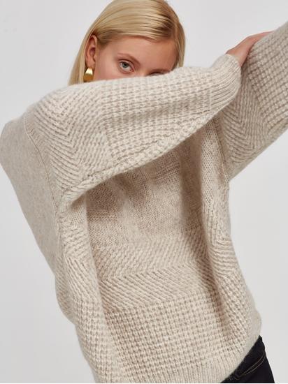 Image sur Pullover grosses mailles oversized texturé