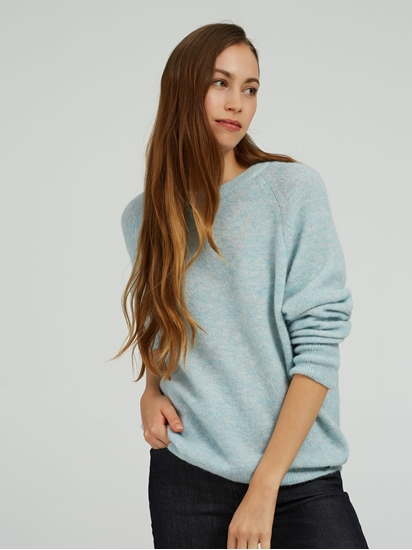 Bild von Oversized Strickpullover in melierter Optik