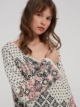 Image sur Pullover mit Blumenmuster