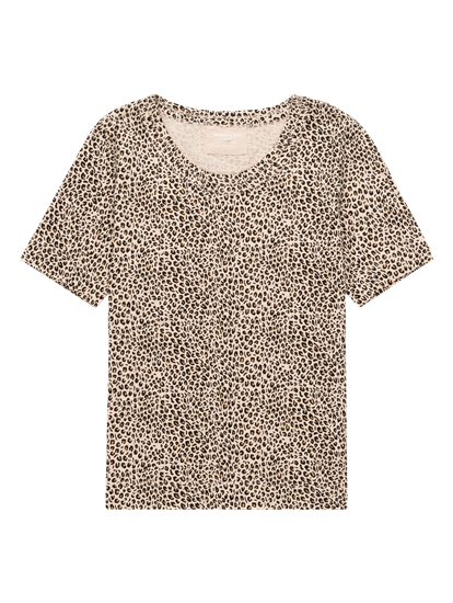 Image sur T-shirt avec imprimé léopard