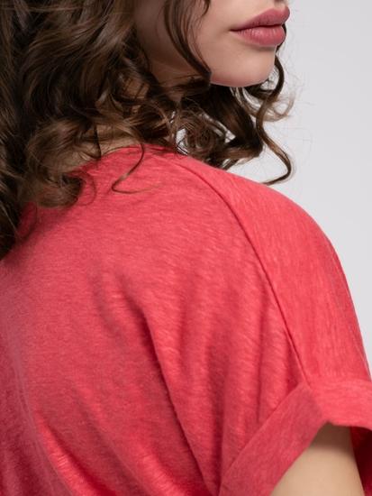 Image sur T-shirt lin