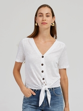 Bild von Shirt mit Knoten