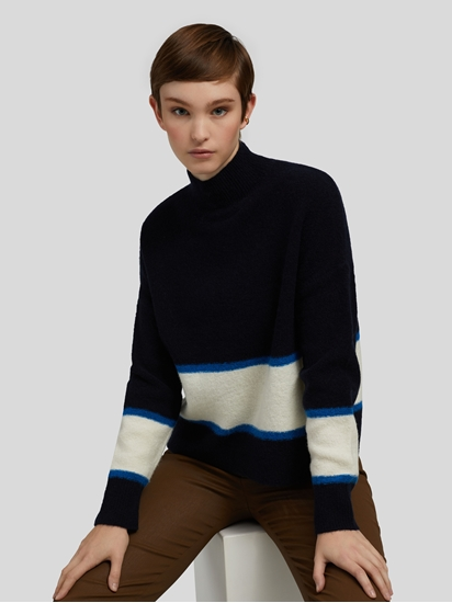 Bild von Colour Block Funnel Neck Knit