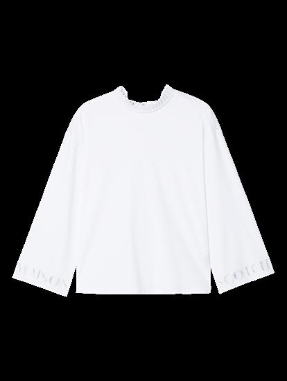 Bild von Shirt mit Plisseekragen