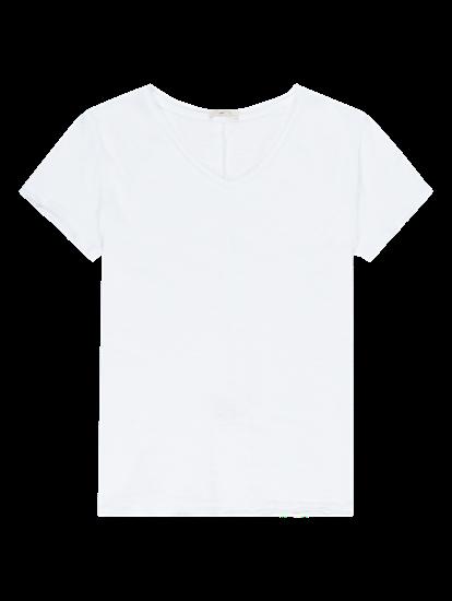 Image sur T-shirt fil flammé à ourlets ouverts