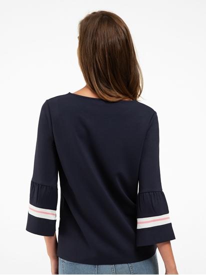 Image sur Shirt à rayures et manches à volants