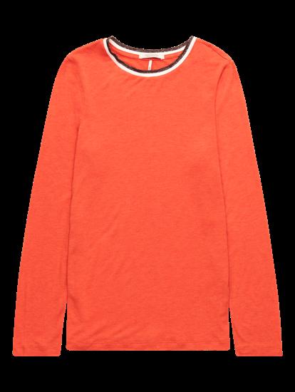 Bild von Shirt mit Lurex und seitlichen Streifen