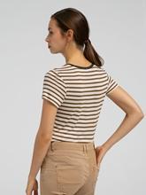 Bild von T-Shirt mit Streifen und Lurex