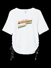 Image sur T-shirt imprimé avec fronces