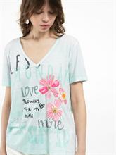 Bild von T-Shirt mit Stickerei und Print