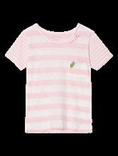 Bild von T-Shirt aus Flammgarn mit Streifen und Applikationen
