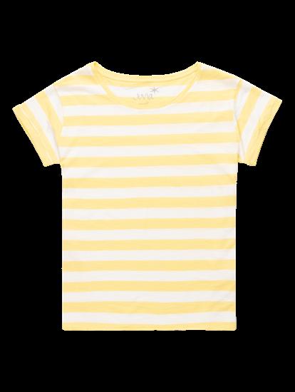 Image sur T-shirt fil flammé à rayures