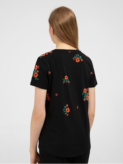 Bild von T-Shirt mit Blumen Flock-Print