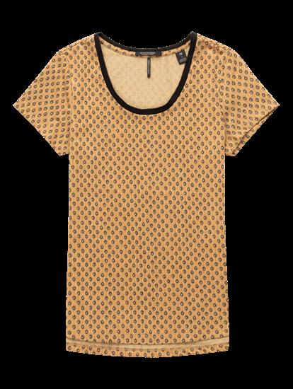 Image sur T-shirt imprimé avec lurex