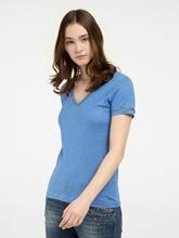 Image sur T-shirt lin avec brillant