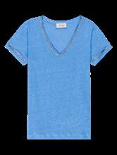 Bild von T-Shirt aus Leinen mit Glitzer